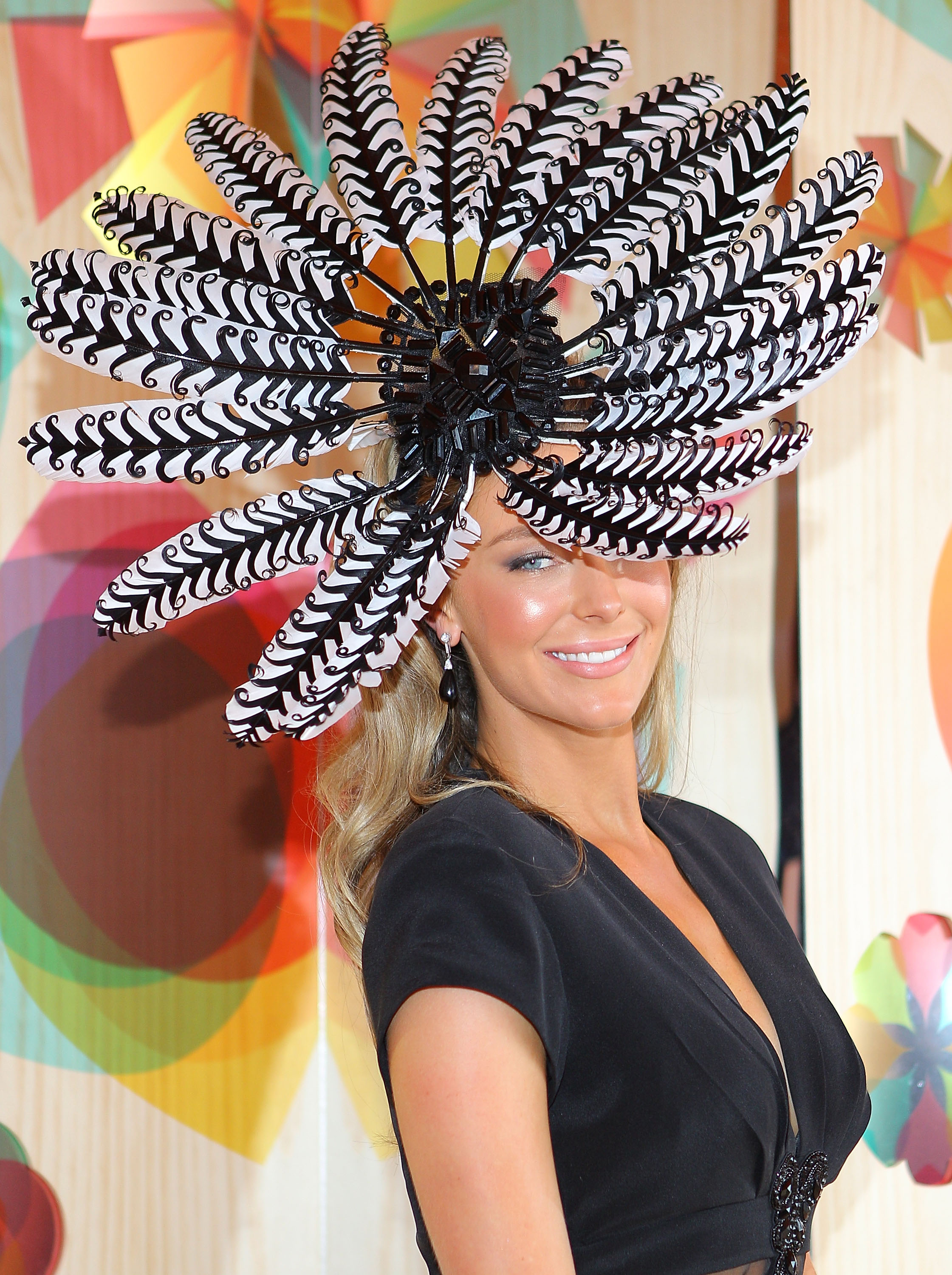 2010 Melbourne Spring Racing Carnival - Hanako assisted Richard Nylon (who shares the studio with Gwendolynne) and had a part in this intricate creation - the fascinator headpiece for Jennifer Hawkins