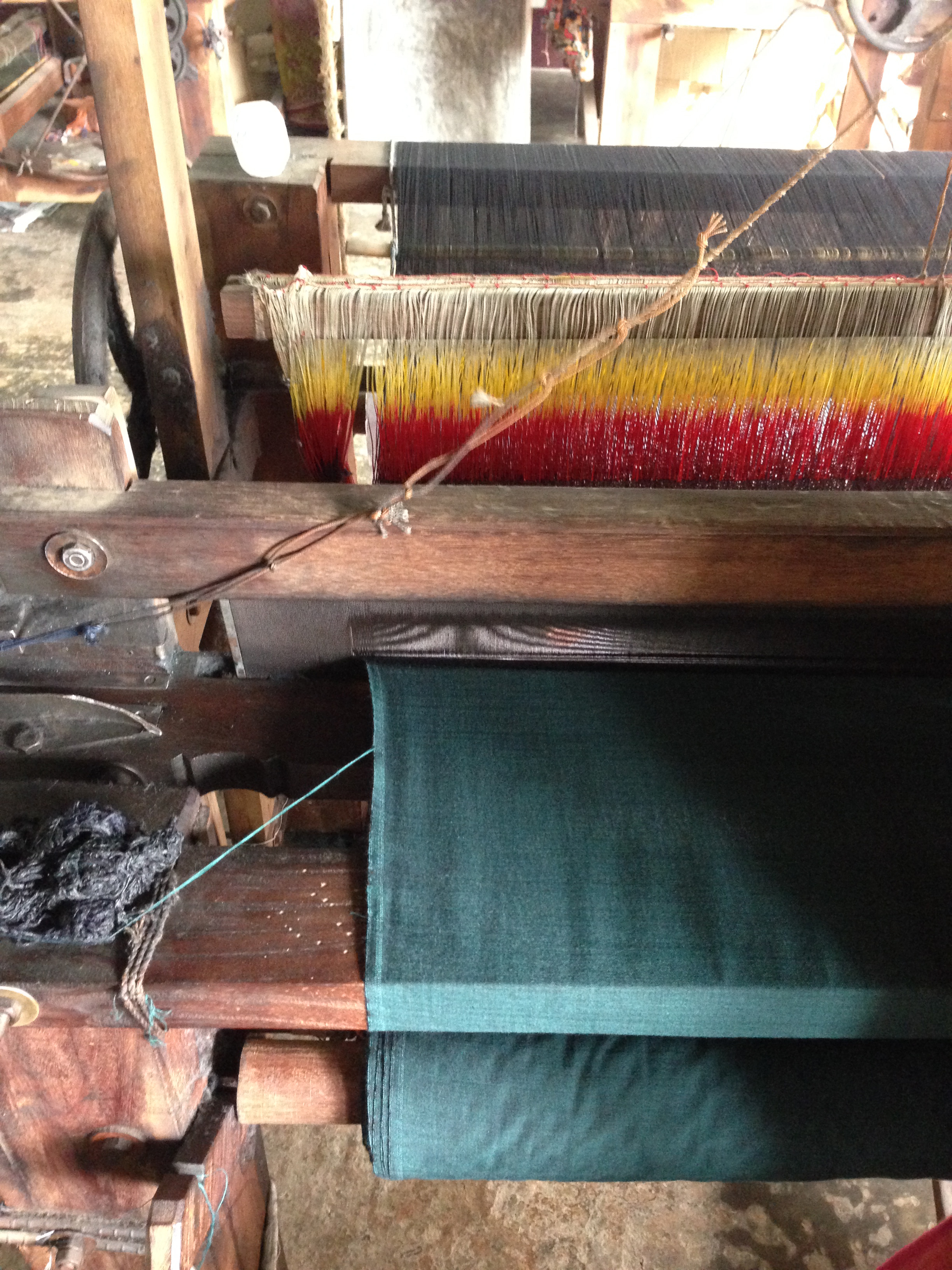 The hand loom in action