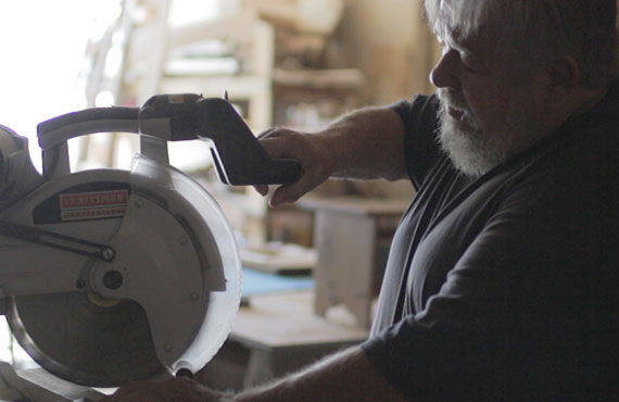 Bill, 66, has been a woodworker in Rockford for most of his life - image via Etsy.com